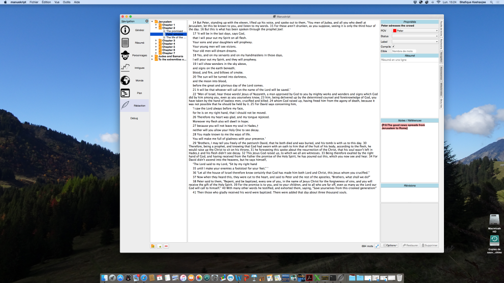 Manuskript on OS X